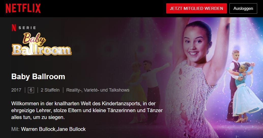 Netflix: Baby Ballroom // Doku-Empfehlung von Sabina Kreutzburg-Schütz