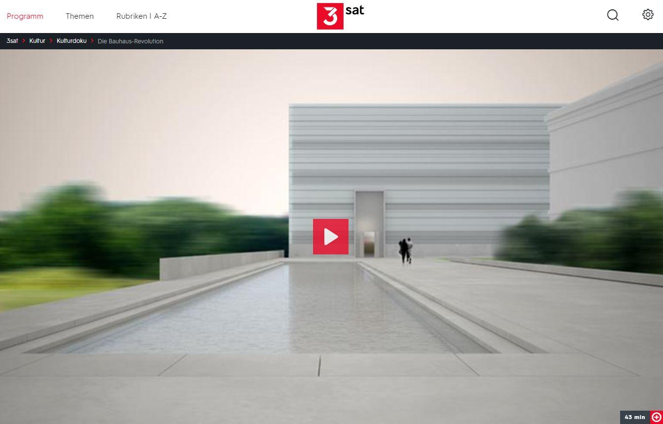 3sat-Doku: Die Bauhaus-Revolution (2 Teile)