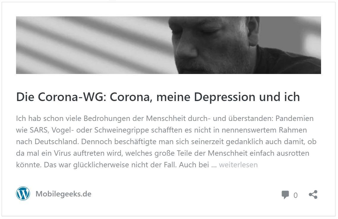 Coronakrise: Auch Menschen wie Carsten Drees auf dem Schirm haben
