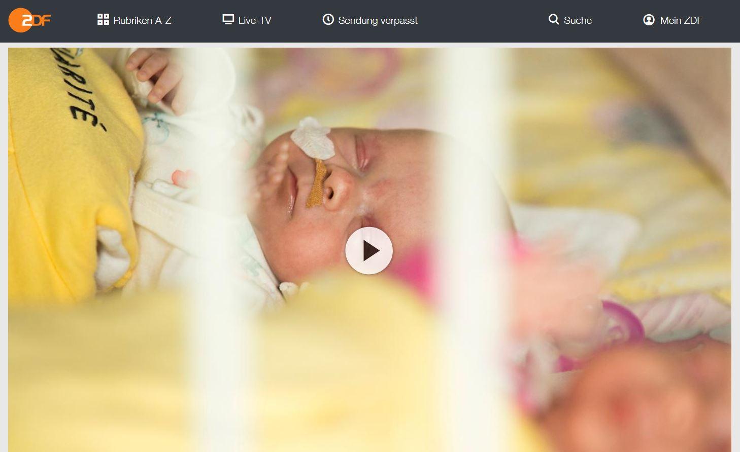 ZDF-Doku: Eine Handvoll Hoffnung - Frühchen kämpfen sich ins Leben | 37 Grad