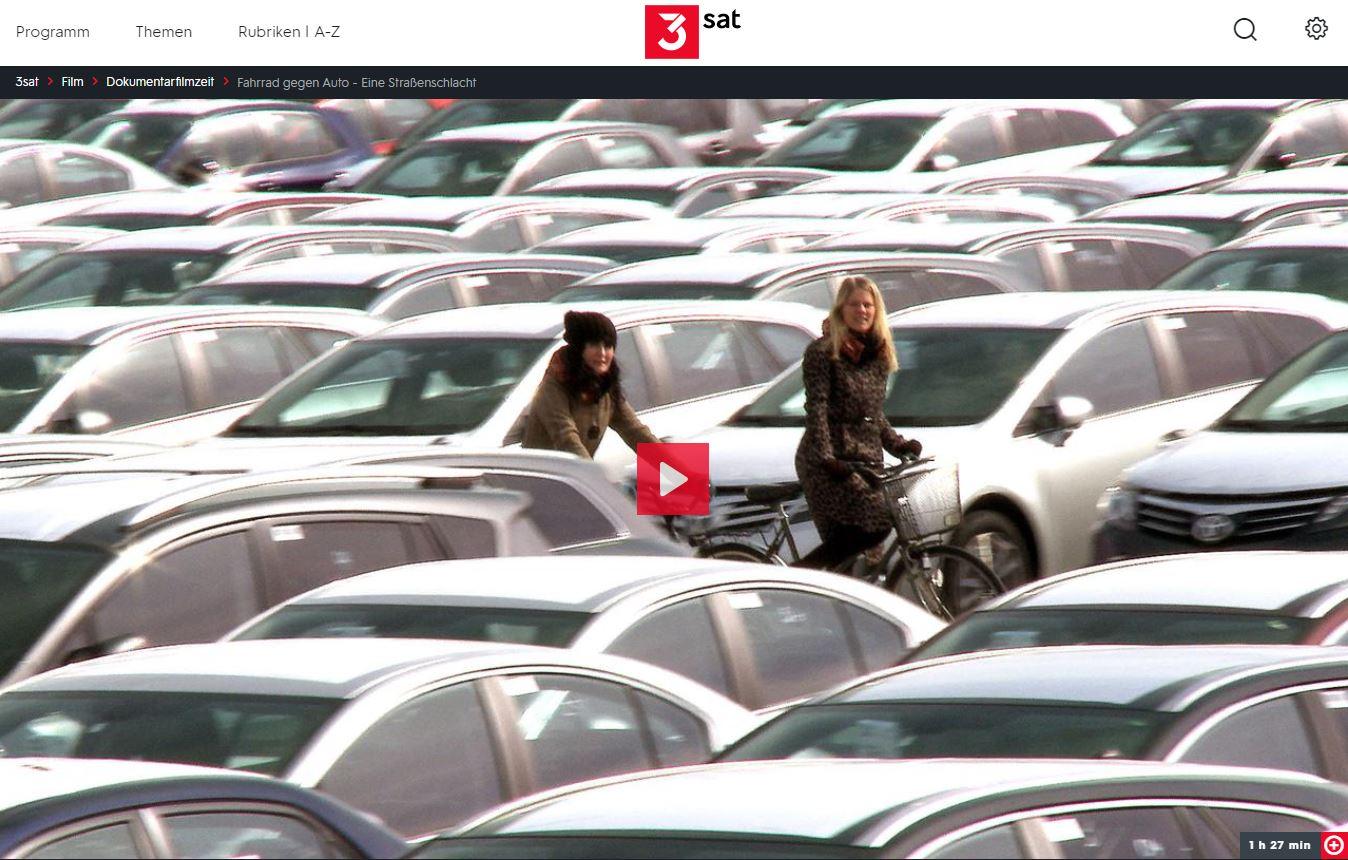 3sat-Doku: Fahrrad gegen Auto - Eine Straßenschlacht