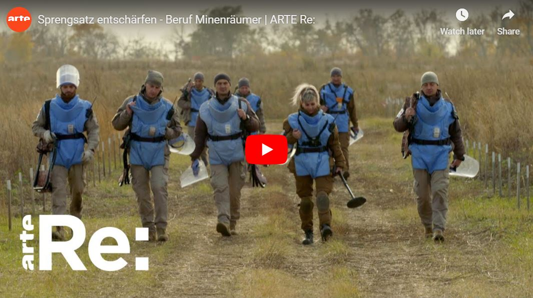 ARTE-Reportage: Sprengsatz entschärfen - Beruf Minenräumer