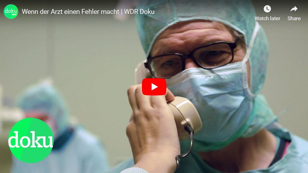 WDR-Doku: Wenn der Arzt einen Fehler macht