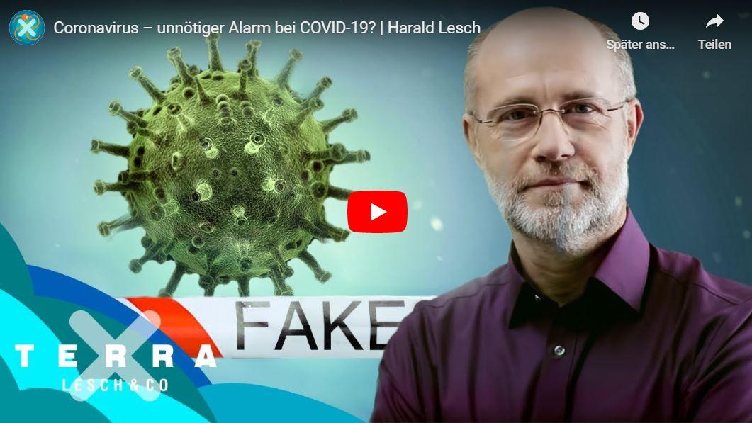 Terra X, Harald Lesch: Coronavirus – unnötiger Alarm bei COVID-19?