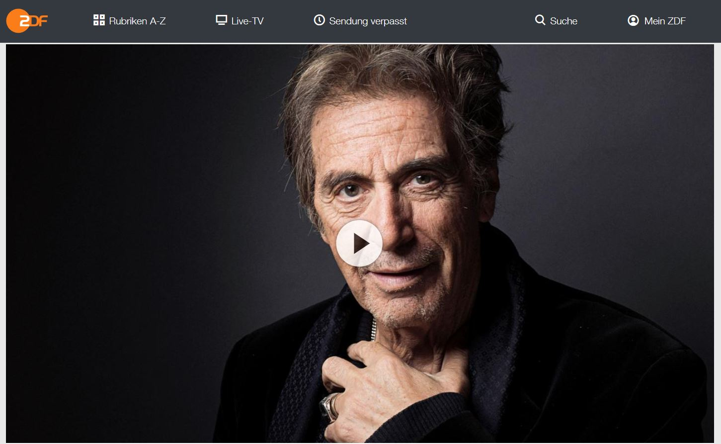 3sat-Doku: Al Pacino - Star wider Willen