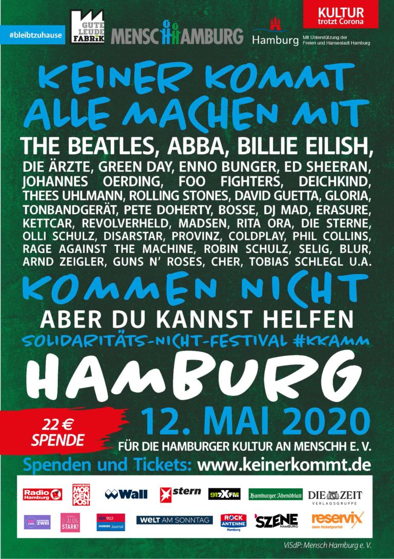 MenscHHamburg e.V.: Imaginäres Festival zur Unterstützung der Hamburger Kreativwirtschaft