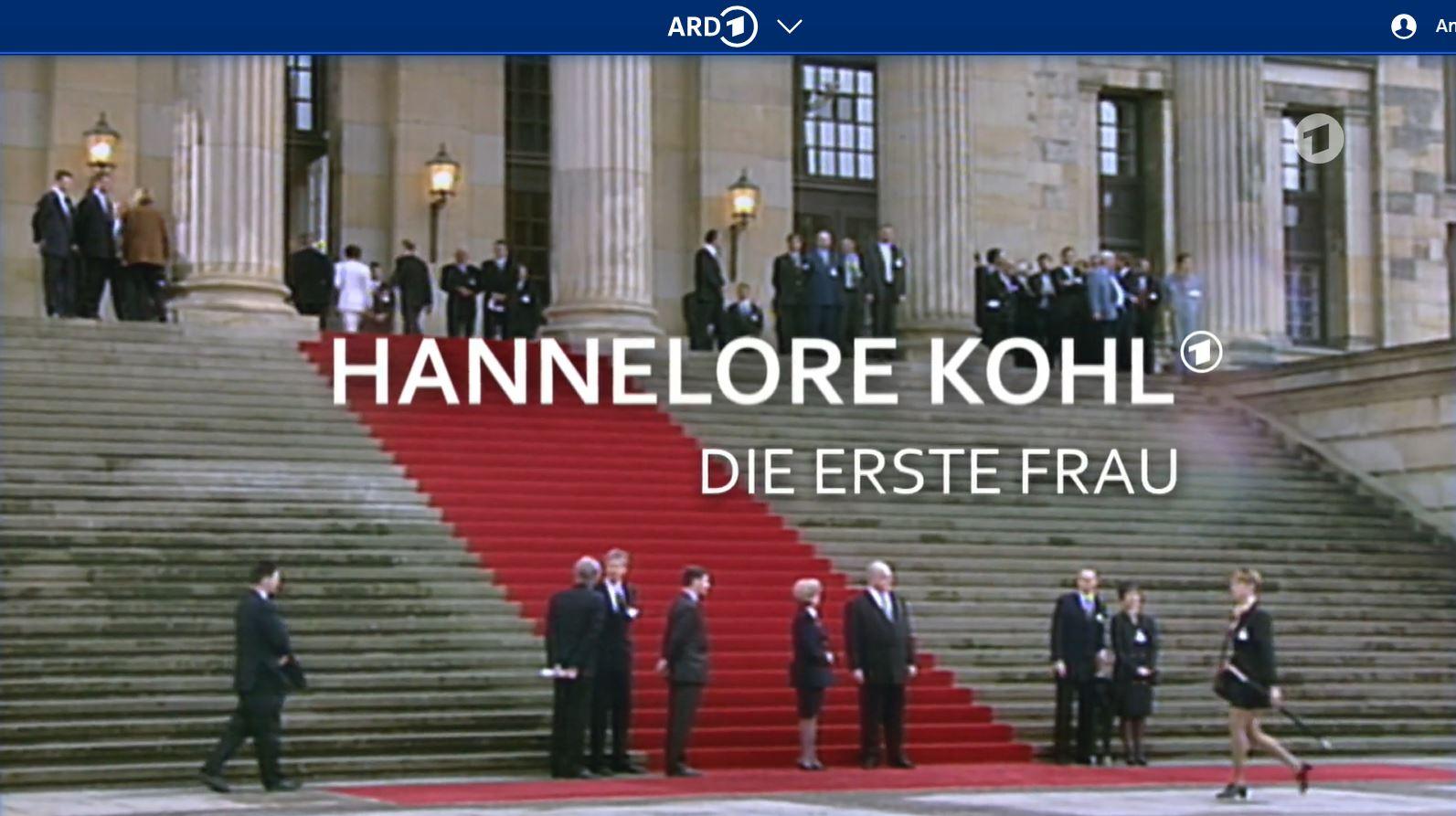 ARD-Doku: Hannelore Kohl - Die erste Frau