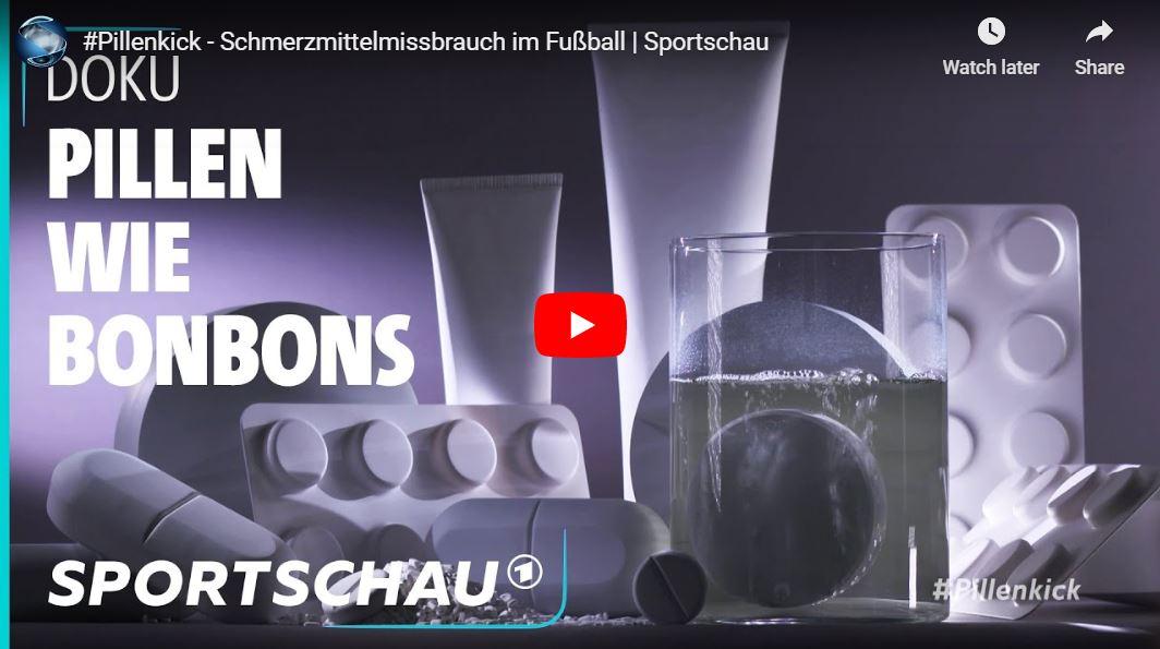 Sportschau-Doku: »Hau rein die Pille!« – Schmerzmittel im Fußball, verkapptes Doping?