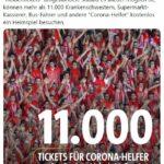 Regensburg-Fans geben »Heldentickets« für 11.000 Corona-Helfer*innen