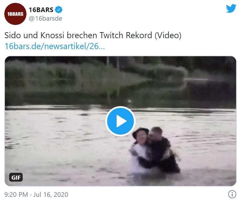 Sido, Knossi & Co. stellen Zuschauer-Rekord bei Twitch auf