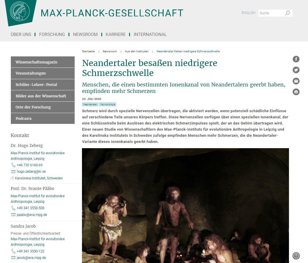 Menschen mit Neandertaler-Gen haben niedrigere Schmerzschwelle