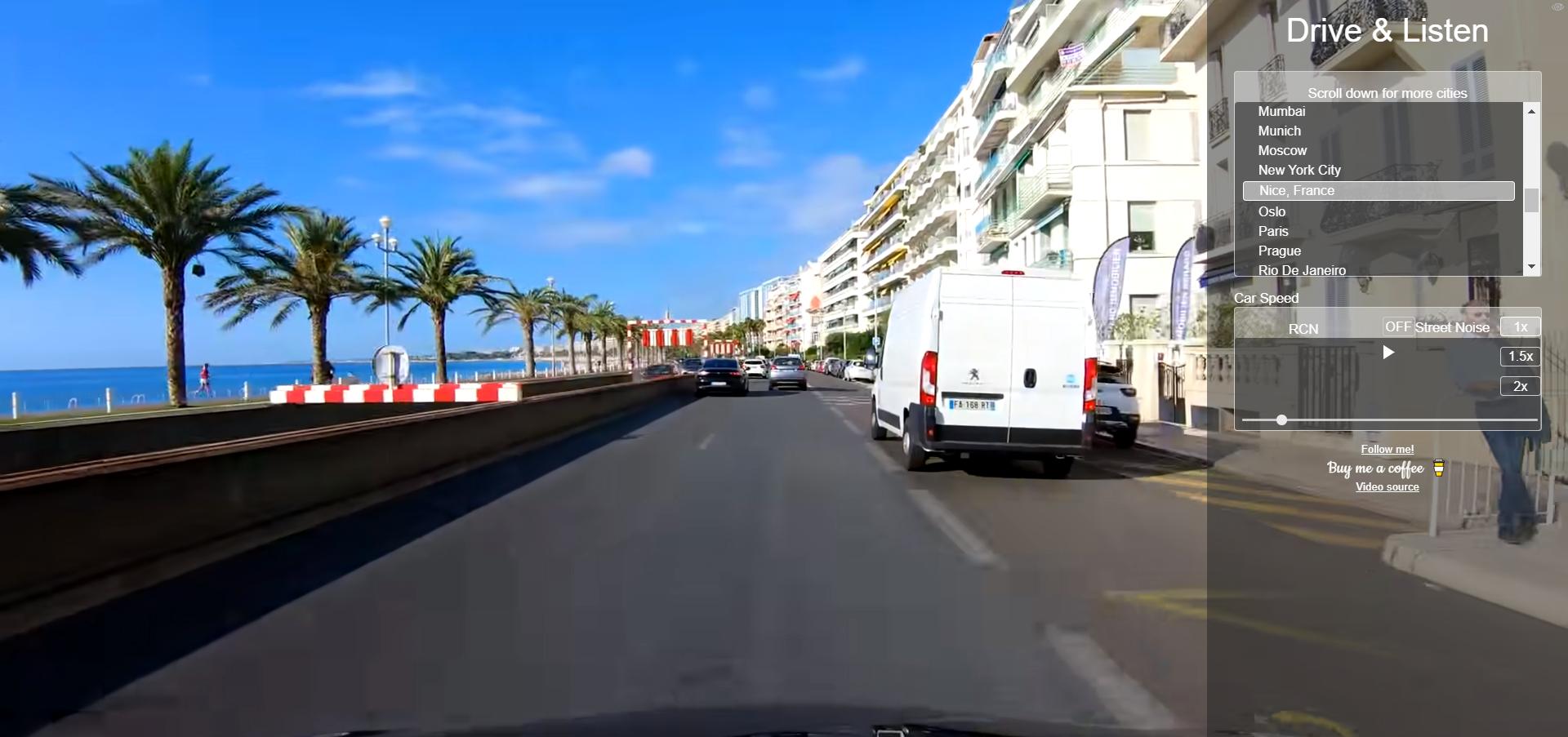 Schöne Idee: Dashcam-Videos plus lokales Radio