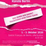 Branchentreff der freien darstellenden Künste Berlin 2020