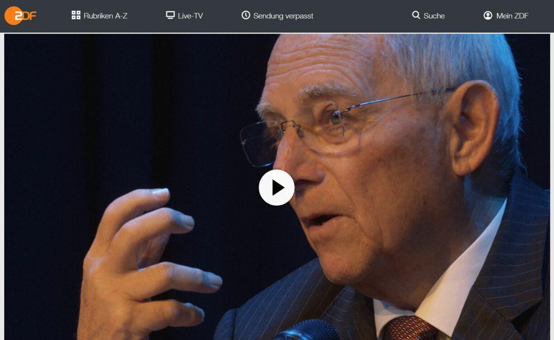 ZDF-Doku: Wolfgang Schäuble - Einheitsmacher, Streiter, Staatsmann