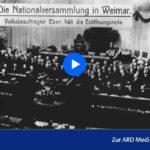 RBB-Doku: Musste Weimar scheitern?