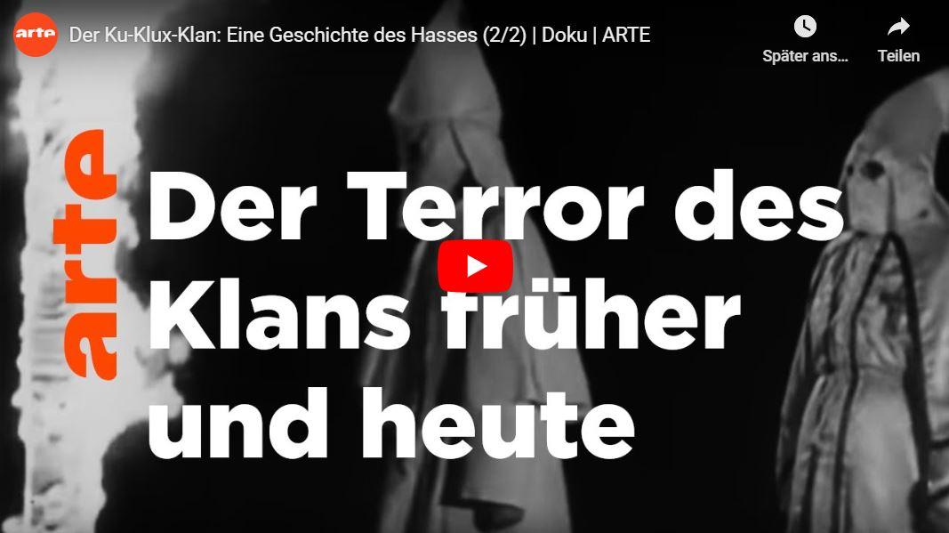 ARTE-Doku: Der Ku-Klux-Klan - Eine Geschichte des Hasses (2 Teile)
