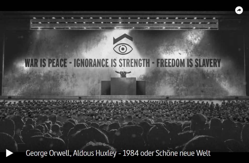 ARTE-Doku: George Orwell, Aldous Huxley - 1984 oder Schöne neue Welt
