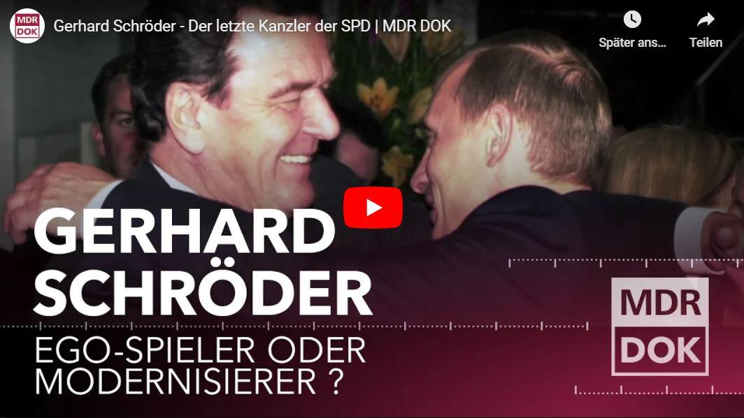 MDR-Doku: Gerhard Schröder - Der letzte Kanzler der SPD