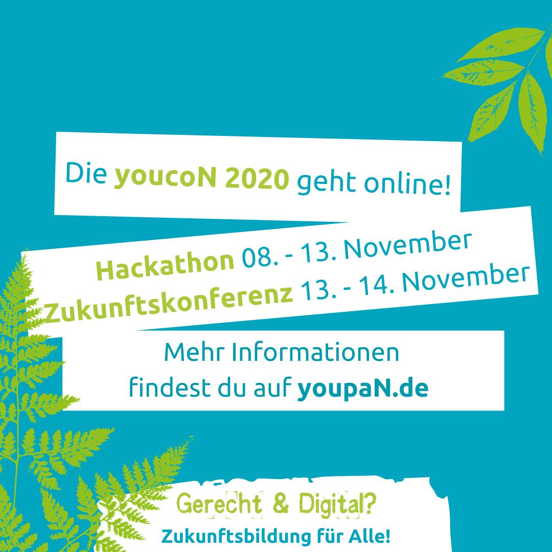 youcoN 2020: Gerecht und digital? Zukunftsbildung für Alle!