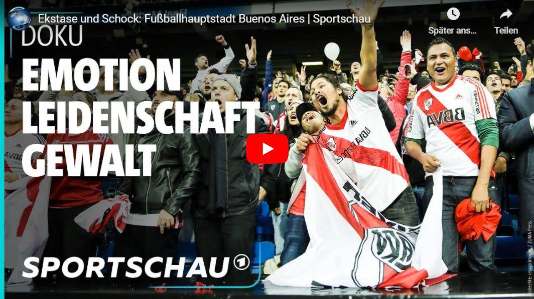 Sportschau: Ekstase und Schock - Fußballhauptstadt Buenos Aires // Doku-Empfehlung von Carsten Schulz
