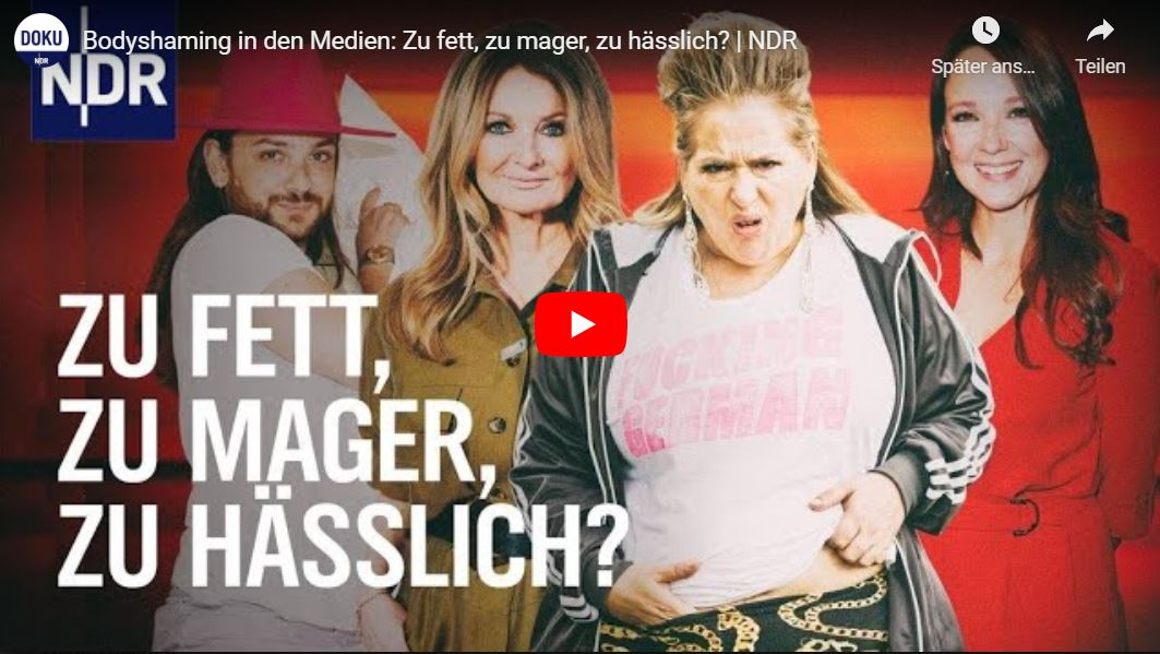 NDR-Doku: Bodyshaming in den Medien: Zu fett, zu mager, zu hässlich?