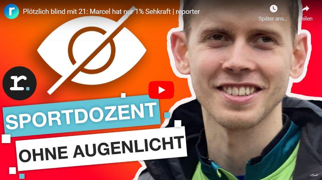reporter: Plötzlich blind mit 21 - Marcel hat nur 1% Sehkraft