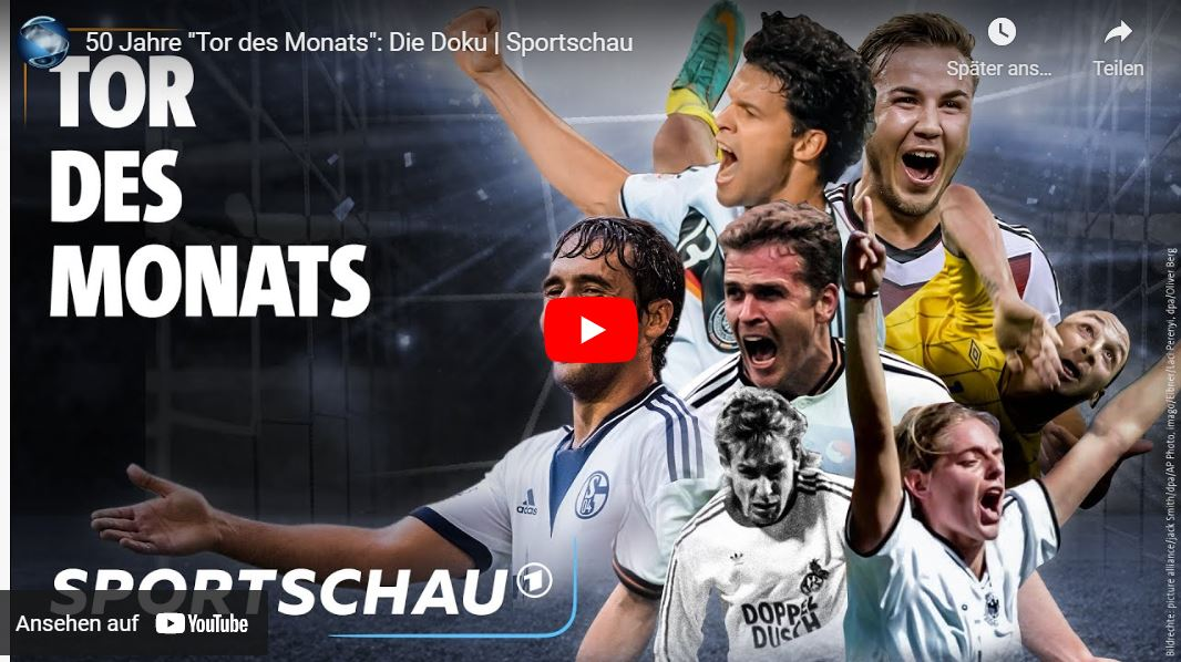 Sportschau-Doku: 50 Jahre »Tor des Monats«