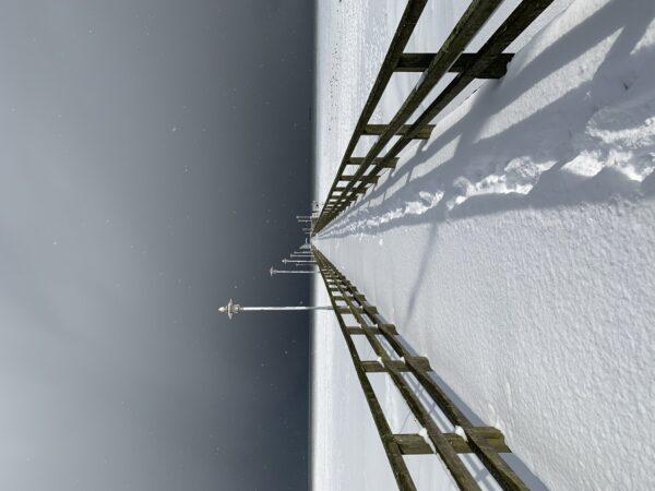 Seebrücke Ahlbeck in Eis und Licht, Usedom