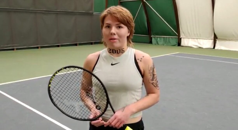 Tennisspielerin Oleksandra Oliynykova: Arm als Werbefläche verkauft