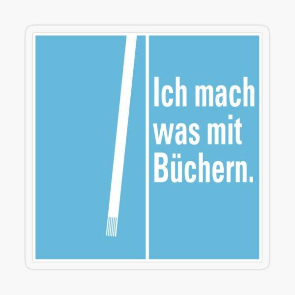 Transparenter Sticker »Was mit Büchern«