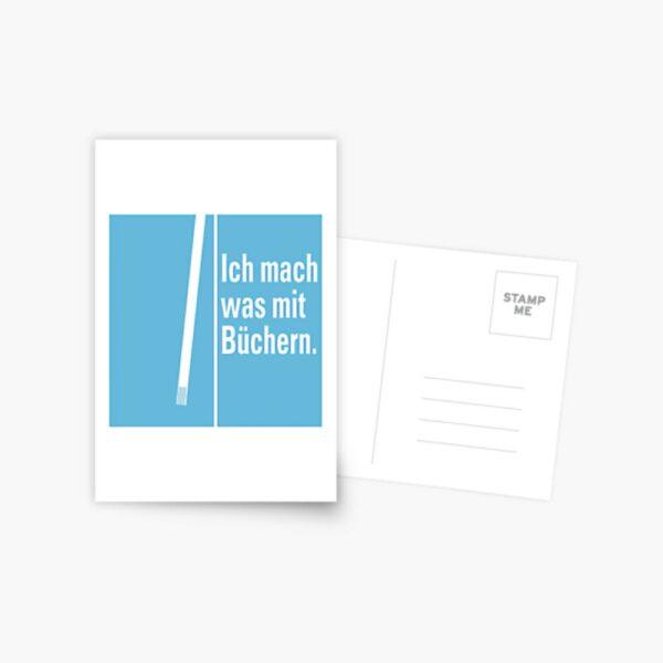 Postkarte »Was mit Büchern«