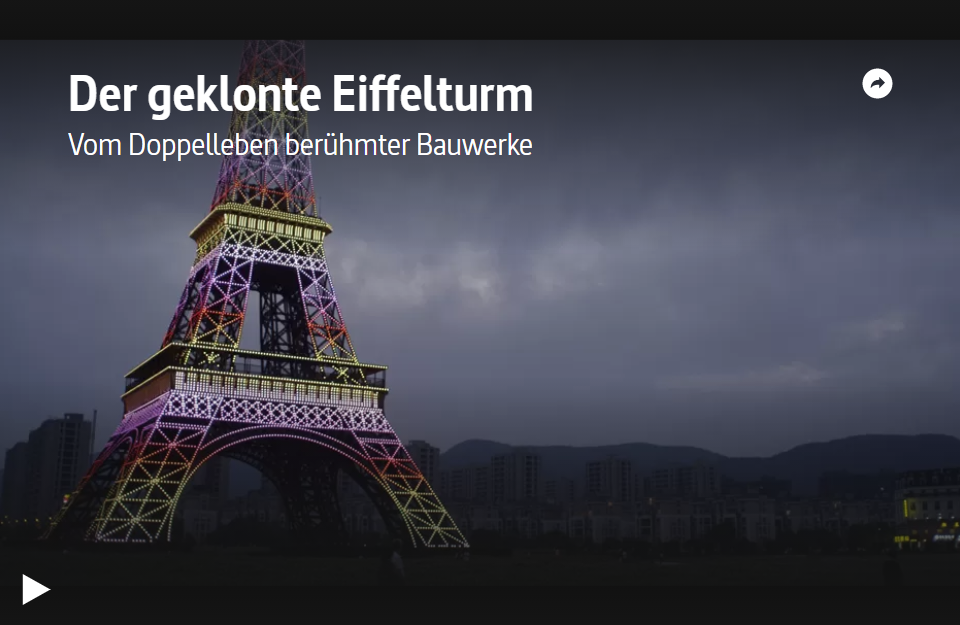 ARTE-Doku: Der geklonte Eiffelturm - Vom Doppelleben berühmter Bauwerke