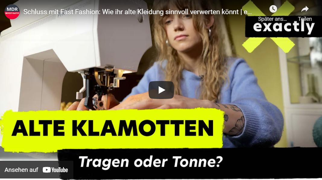 MDR-Doku: Schluss mit Fast Fashion - Wie ihr alte Kleidung sinnvoll verwerten könnt
