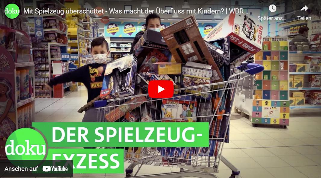 WDR-Doku: Mit Spielzeug überschüttet - Was macht der Überfluss mit Kindern?