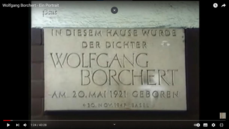 3sat-Doku: Wolfgang Borchert - Ein Portrait (1987)