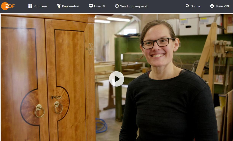 ZDF-Doku: »Ich bin meine eigene Chefin!« - Johanna ist Tischlermeisterin und liebt das Handwerk   37 Grad