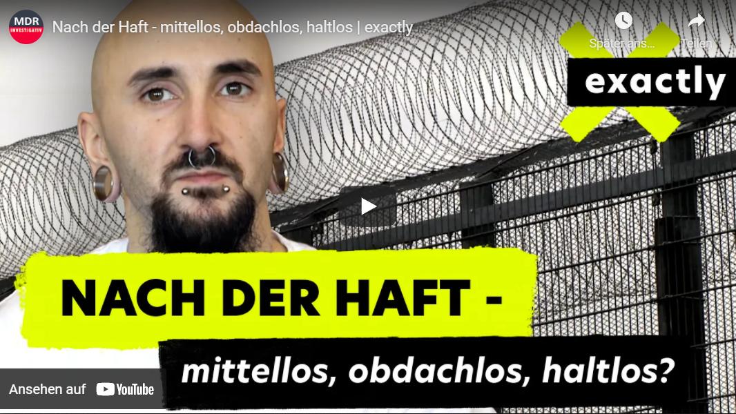 MDR-Doku: Nach der Haft - mittellos, obdachlos, haltlos