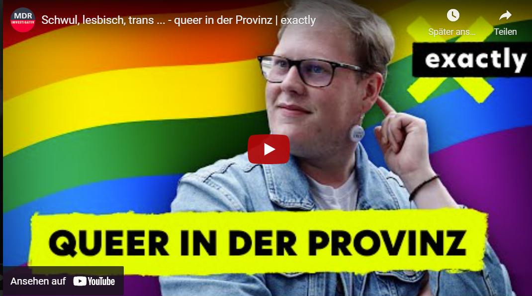 MDR-Doku: Schwul, lesbisch, trans ... - queer in der Provinz