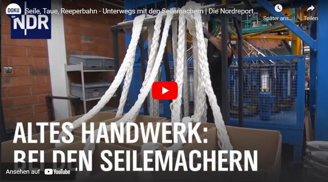 NDR-Doku: Seile, Taue, Reeperbahn - Unterwegs mit den Seilemachern