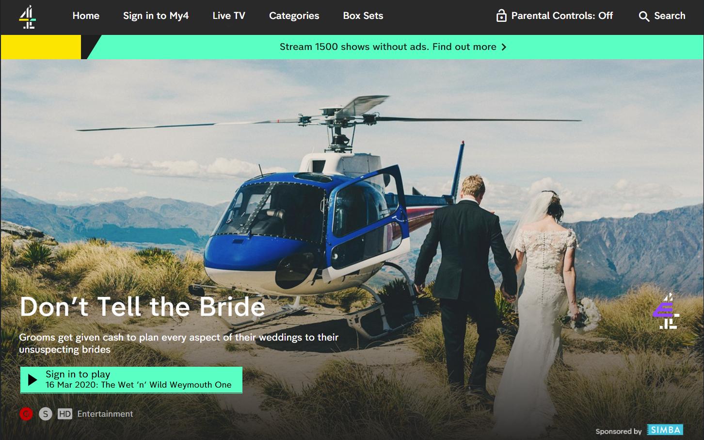 TV-Show »Don't Tell the Bride«: Wenn der Bräutigam die Hochzeit allein organisieren muss