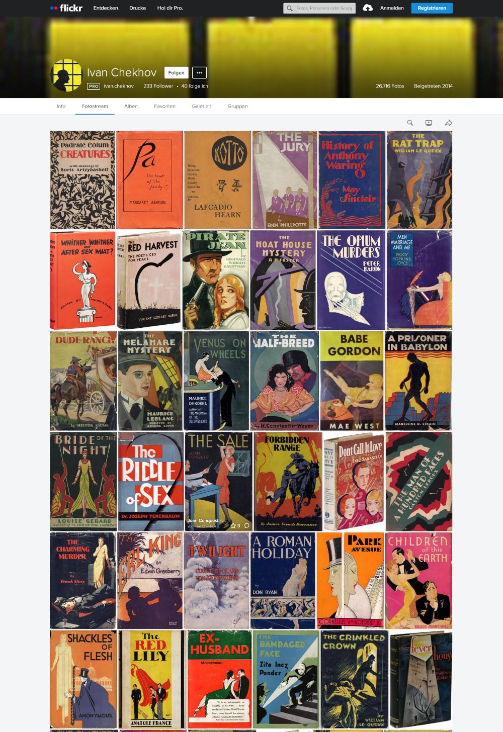 Sammlung von Tausenden Buchcovern ab Ende der 1920er