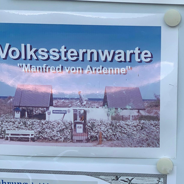 »Volkssternwarte Manfred von Ardenne« im Seebad Heringsdorf